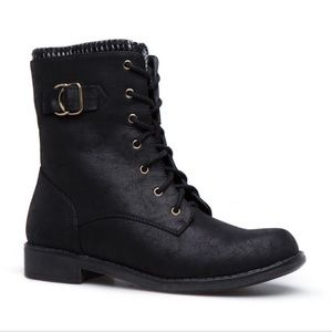 Black and Gold Combat Boots